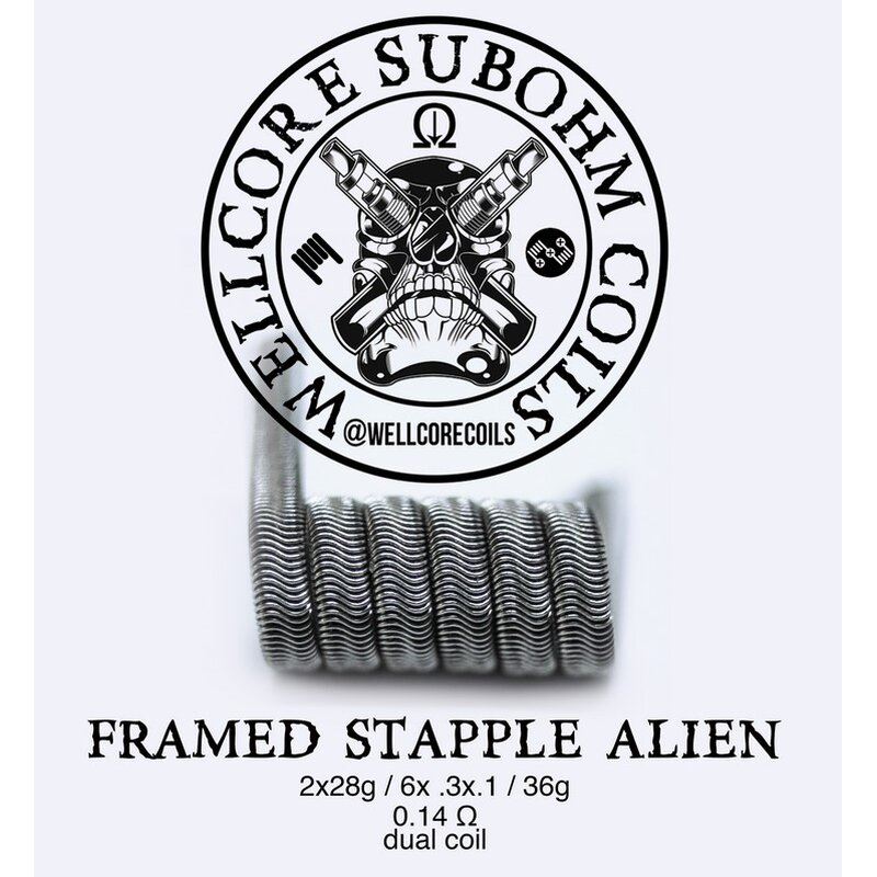 Wellcore Framed Alien Staple Coils Ni80 2 Stück