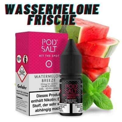 Pod Salt - Watermelon Breeze 10ml 20mg