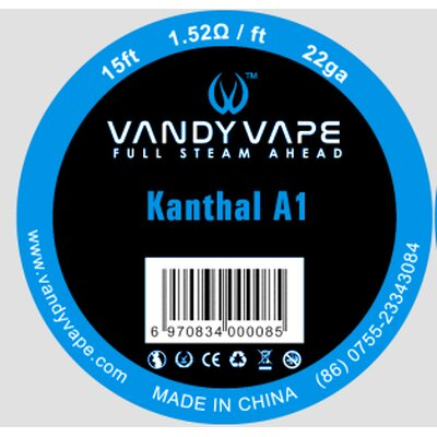 Kanthal A1 Wickeldrath Vandy Vape 0,65mm 22GA 15ft