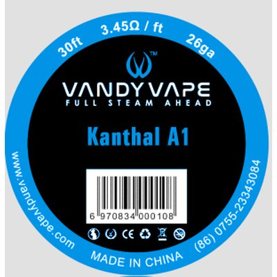Kanthal A1 Wickeldrath Vandy Vape 0,4mm 26 GA 30ft