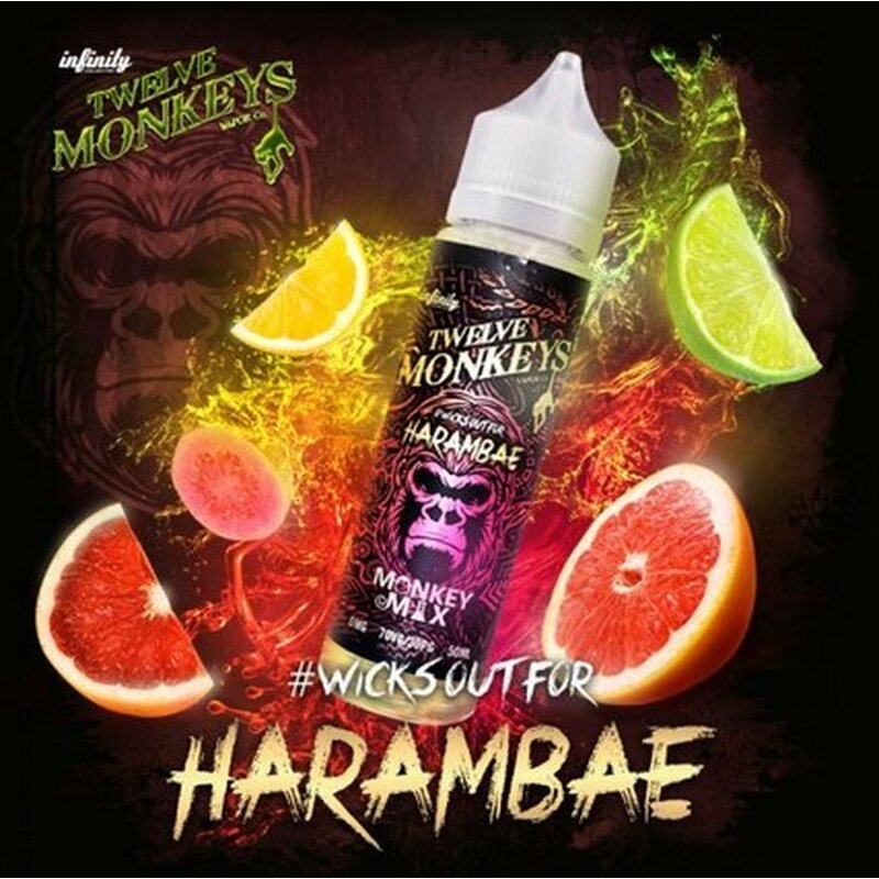 Harambae E-Liquid 50ml Twelve Monkeys