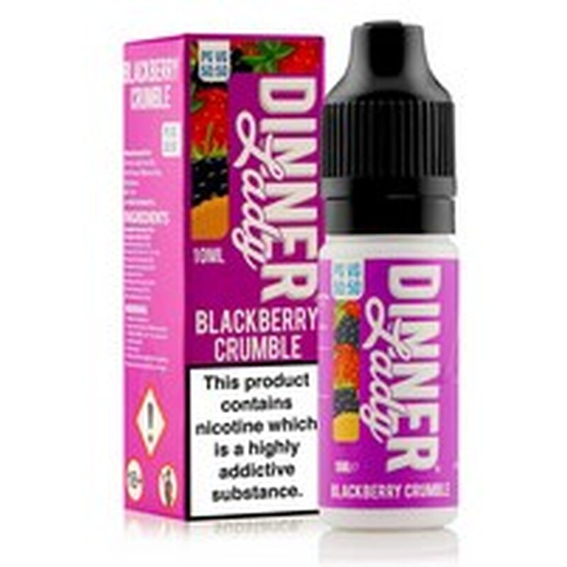 Blackberry Crumble E-Liquid 10ml Dinner Lady 50/50