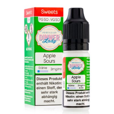 Apple Sours E-Liquid 10ml Tuck Shop